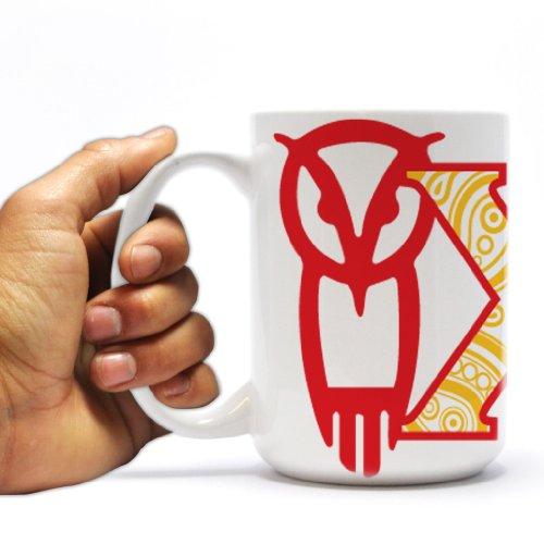 Chi Omega 15oz Coffee Mug – Paisley Print Greek Letters