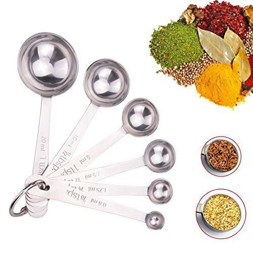 Ilyever Premium Quality Stainless Steel Measuring Spoons Set With Accurate Measurements For Cooking,measuring