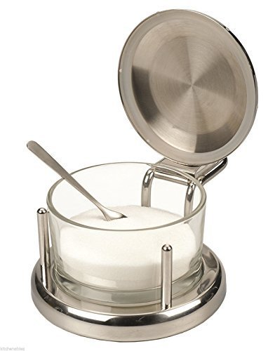 ALTON BROWN Good Eats Stainless Glass SALT Keeper BOX DISH SERVER CELLAR by Other Kitchen