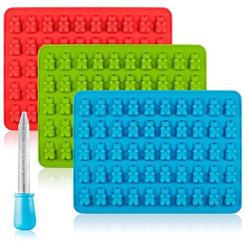 Candy Silicone Molds Ice Cube Trays SENHAI 3 Pack Gumdrop Jelly Molds Chocolate Molds Gummy Bear Candy Molds - Bear