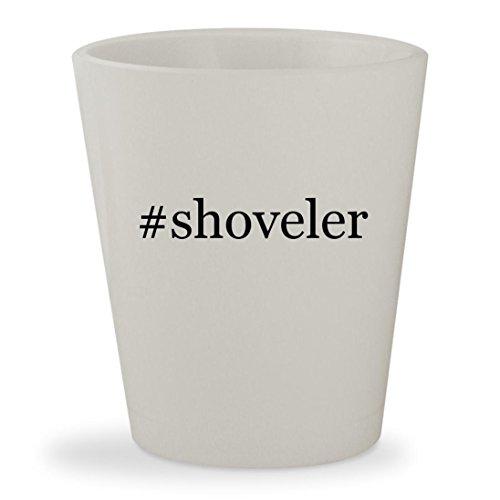 shoveler - White Hashtag Ceramic 15oz Shot Glass