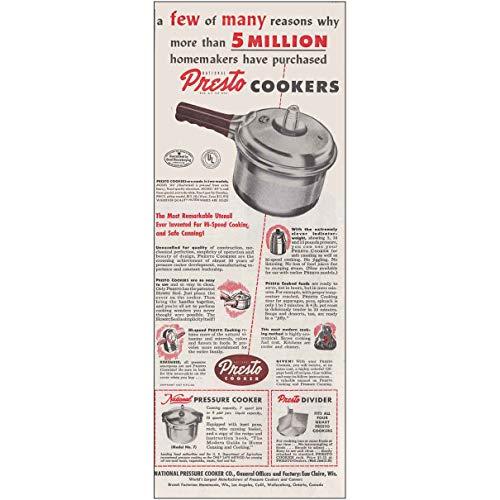 1947 Presto Cookers Most Remarkable Utensil Presto Print Ad