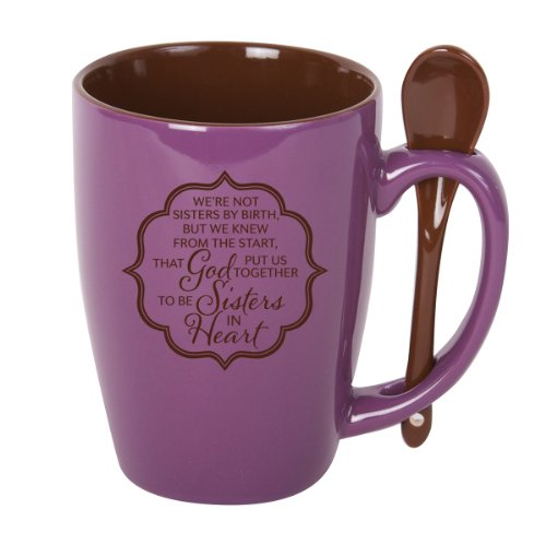 James Lawrence Sisters in Heart Spoon Mug with stirring spoon Holds 15 ounces