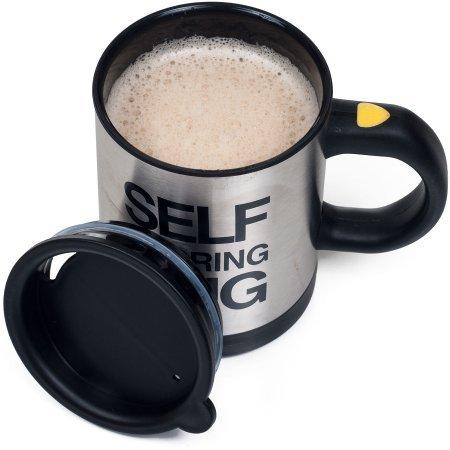 15-oz Self Stirring Coffee Hot Chocolate Leak-resistant cap by Chef Buddy