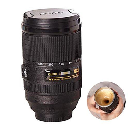 Naovio Camera Len Model Thermos Self-Stirring Coffee Mug for Office or Home Use