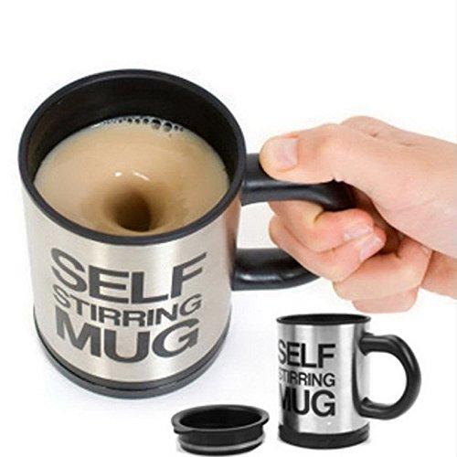 Xiaolanwelc Self Stirring Coffee Cup Mugs Double Insulated Coffee Mug 400 ML Automatic Electric Coffee Cups Smart Mugs Mixing Coffee Cup black