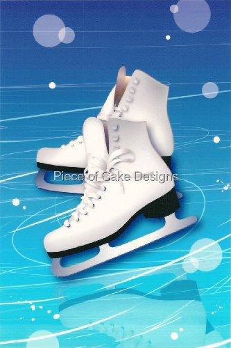 14 Sheet ~ Ice Skates ~ Edible CakeCupcake Topper