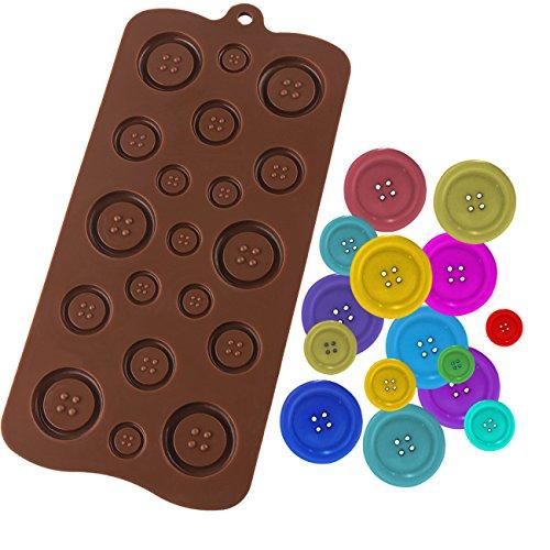Luxbon Fastener Shape CandyIceCakeChocolateSugar Craft Fondant MoldTray Silicone Decorating Tools Randomly Color