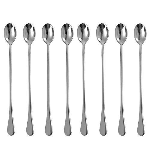 Eslite 925-Inch Long Handle Iced Tea SpoonStainless Steel Stirring Spoons8-piece
