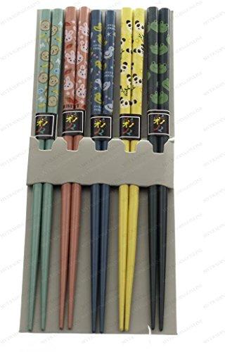 MV Trading 900300 Japanese Chopsticks Gift Set With Many Variety Designs 5 Pairs