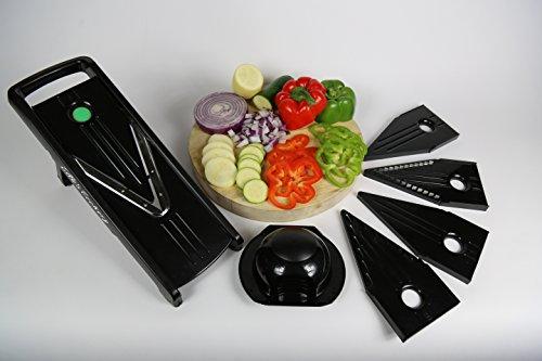 Ella's Cookery #1 Mandoline V Slicer - Vegetable Spiral Slicer, Fruit And Vegetable Slicer, Mandoline Slicer -