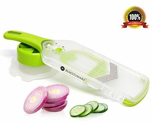 Maestoware® Handheld Adjustable Mandoline V-blade V-slicer - Kitchen Gadgets And Cutlery Accessories For Vegetable
