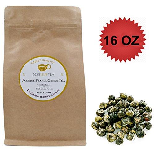 Best Leaf Tea- Jasmine Pearl Green TeaTop Quality Loose Leaf Tea450 g 16 OZ