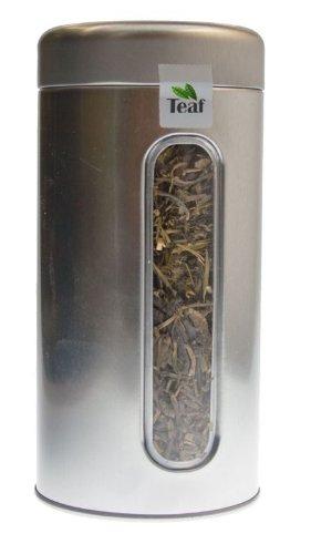 CHINA TAI MU LONG ZHU - green tea - in a Silver Caddy - Ø 76 mm height 153 mm 100g