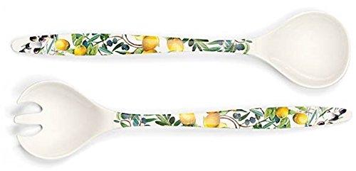 Michel Design Works Melamine Salad Serving Set Tuscan Grove