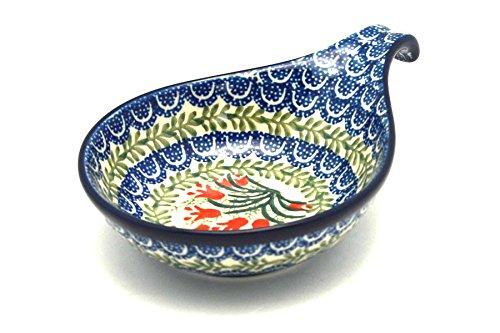 Polish Pottery SpoonLadle Rest - Crimson Bells