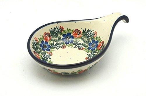 Polish Pottery SpoonLadle Rest - Garden Party