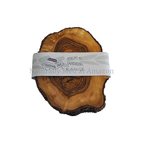 Naturally Med Olive Wood Rustic Trivet