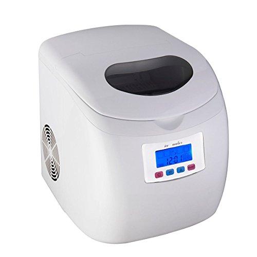 Giantex Portable Countertop Ice Cube Maker Compact Ice Cube Machine 26 Lb/ Day