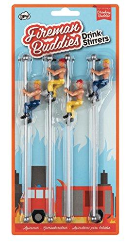 NPW-USA The Original Drinking Buddies Firemans Buddies Pole Drink Stirrers