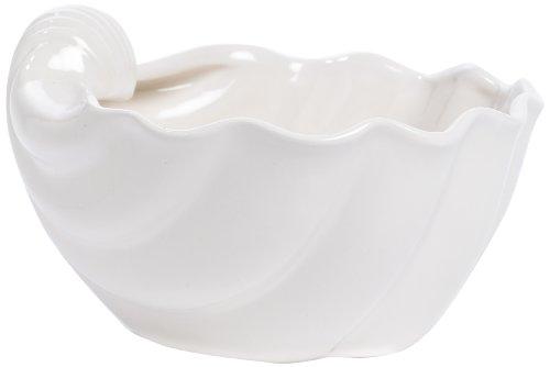 Caffco International Ceramic Clam Shell Bowl Small