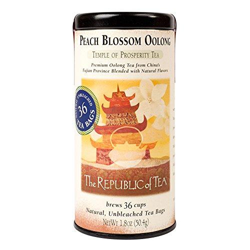 The Republic Of Tea Peach Blossom Oolong Tea 36 Tea Bag Tin