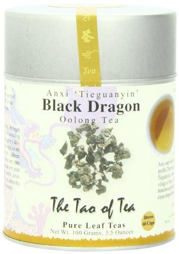 The Tao of Tea Black Dragon Oolong Tea Loose Leaf 35 Ounce Tin