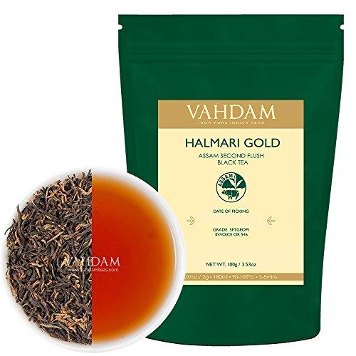 Halmari GOLD Assam Black Tea 2017 Harvest 50 Cups 100 Pure Unblended Single Estate Second Flush Assam Tea Sourced Direct from the Iconic Halmari Estate in India Assam Tea Loose Leaf 353oz