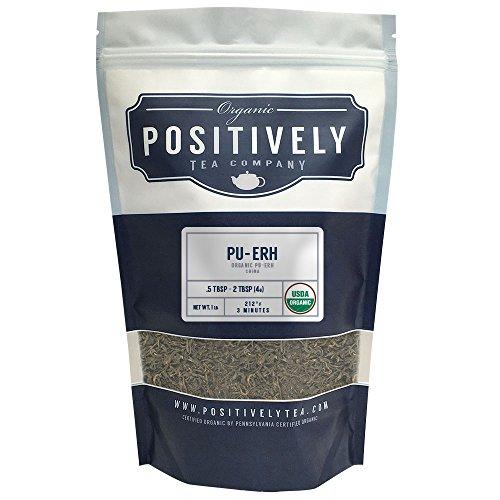 Organic Pu-Erh Tea Loose Leaf Bag Positively Tea LLC 1 LB