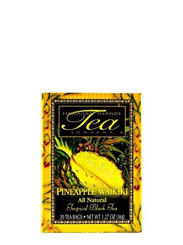 Pineapple Waikiki Black Tea 20 Tea Bags Tropical Flavored All Natural by Hawaiian Islands Tea Company