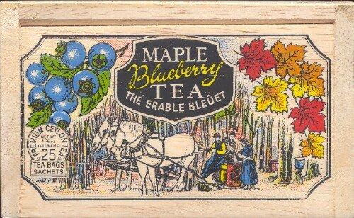 The Metropolitan Tea Company 62WD-618B-109 Maple Blueberry 25 Teabags in Wood Box