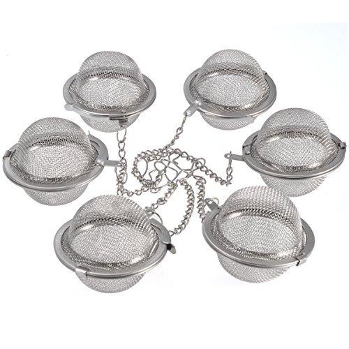 Tea Ball Strainers Premium Tea Spice Balls Fine Mesh Stainless Steel Tea Strainer Filters Tea Interval Diffuser 6