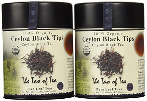 The Tao of Tea Black Tips Black Tea Loose Leaf 4-Ounce Tins Pack of 2