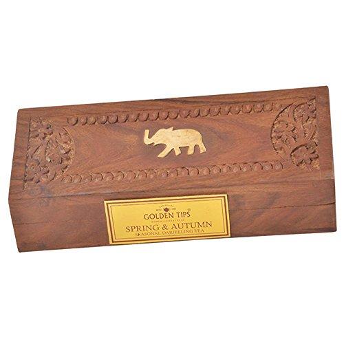 Golden Tips Spring Autumn Darjeeling Full Leaf Black Tea - Carved Wooden Gift Box 2x25gm2x088