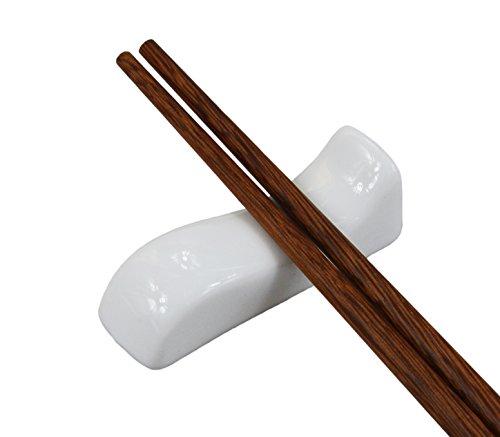 4 Pieces White Porcelain Chopstick Rest  Knife Rests  Spoon Rest 01