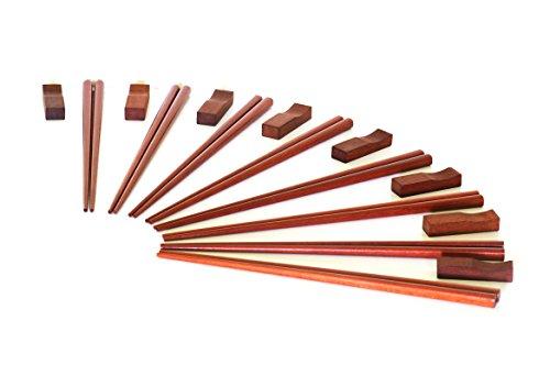 Chopsticks - Premium Quality 8 pack - FREE Chopstick Rests