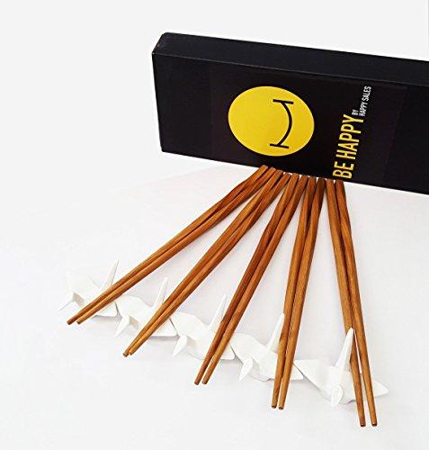 Happy Sales 5 piece Crane Chopstick Set w Rests WHT