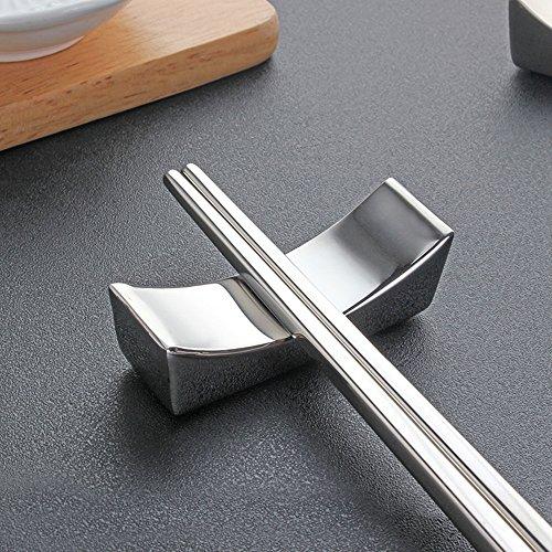 LIUNA 10 Piece Stainless Steel Chopsticks Rest Metal Spoon Rests Chopsticks Holder Rack Frame Kitchen Tools