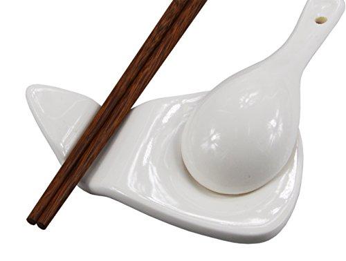 Rypmic 4 Pieces White Porcelain Chopstick Rest  Knife Rests  Spoon Rest KD51 01