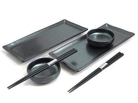 MySushiSet - Black Crystal Sushi Set for Two