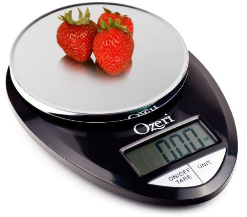 Ozeri Pro Digital Kitchen Food Scale, 1g To 12 Lbs Capacity, In Stylish Black