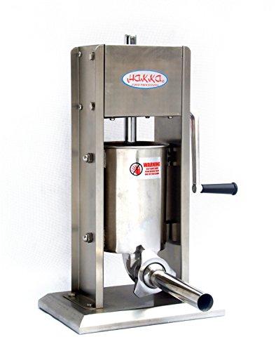 Hakka 7 Lb/3 L Sausage Stuffer 2 Speed Stainless Steel Vertical 5-7 Lb Sausage Maker