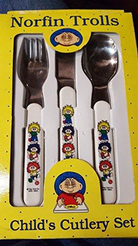 Vintage Norfin Trolls Childs Cutlery Set