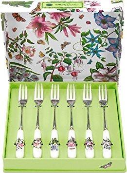 Portmeirion Botanic Garden Pastry Forks Box of 6