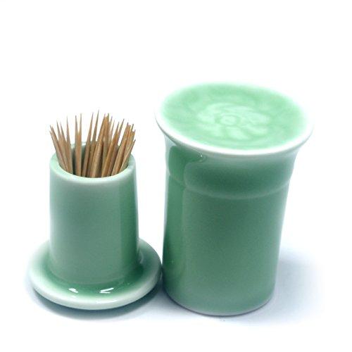 Terya Portable Toothpick Holder Toothpick box Pocket Toothpick Holder GREEN