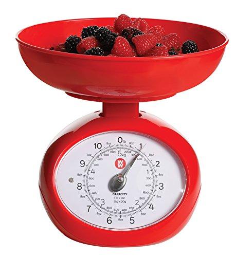 Weight Watchers 11645101 Pennington 9 Inch Mechanical Kitchen Scale Crimson