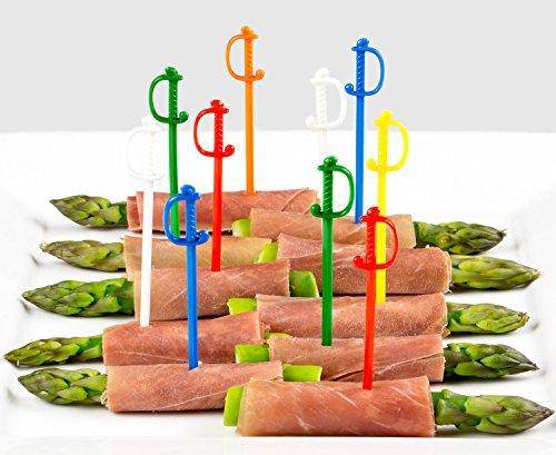 Soodhalter Regal Swords 100 Sword Picks 6 Color Assortment 3 Inch Plastic Food Cocktail Toothpicks