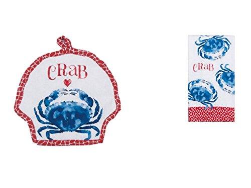 Kay Dee Designs 2 Piece Crab Set - Pot holderTerry Towel