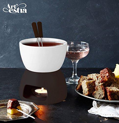 Artestia Ceramic Chocolate Fondue Set
