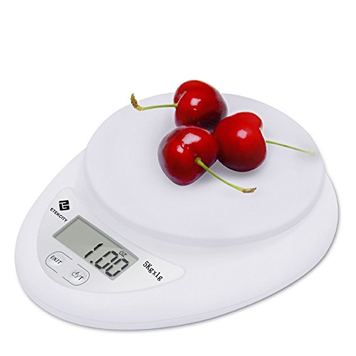 Etekcity 11lb/5kg Digital Kitchen Food Scale, 0.01oz Resolution, Calibration Supported